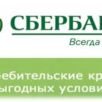Условия потребительского кредита в Сбербанке России